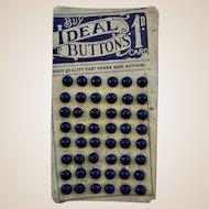 Original card of Ideal boot buttons, teddy bear prop,