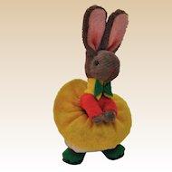 Super cute miniature grey velvet bunny girl, 1950s