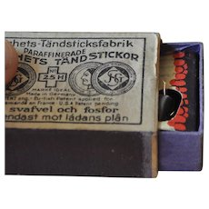 Rare clockwork matchbox with sparking mechanism, 1930s