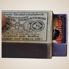 Rare clockwork matchbox with sparking mechanism, 1930s