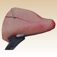 Unusual French papier-mache comedy nose with mohair moustache, 1930s
