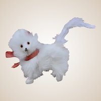A lovely white fur cat for fashion doll,