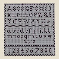 A rare antique miniature sampler on card, late 19th century
