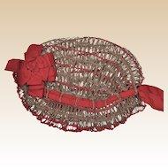 A rare Victorian tattered ladies cap,