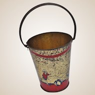 An early lithographed tinplate sand bucket pail, 1920s