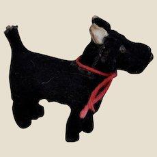 A tiny German black Scottie dog 1930s,