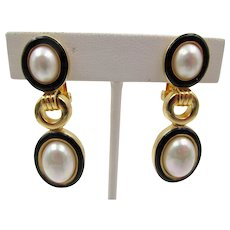 Christian Dior Drop Earrings