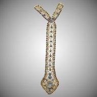 Vintage Delizza and Elster  Juliana  Rhinestone Scrollwork Necktie Necklace BOOK PIECE