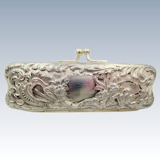 Victorian Simpson, Hall & Miller Co. Repousse Coin Purse