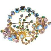 Vintage Austrian Crystal Rhinestone Brooch