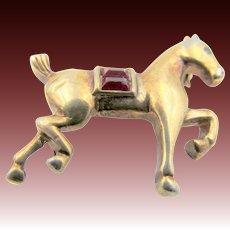 Vintage Crown Trifari Horse Figural Brooch