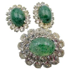 Vintage Christian Dior by Mitchel Maer Brooch and Earrings RARE