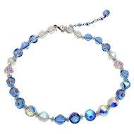 Vintage Signed Hobe Crystal Necklace
