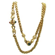 Vintage Rope Mogul Jewels Necklace