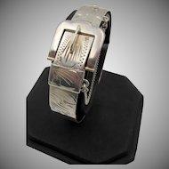 Vintage Sterling Silver Buckle Bracelet England