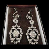 Victorian Paste Drop Earrings Circa 1900