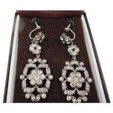 Victorian Paste Drop Earrings