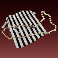 Henri Bendel Crystal Bezel Set Necklace in Bag
