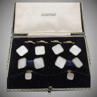 Vintage Austin Reed London Mother of Pearl Men's Cufflink Button Set