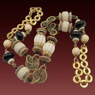 Vintage Lawrence Vrba Long Chunky Fabulous Beaded Necklace
