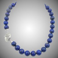 Vintage Natural Lapis Lazuli Beaded Necklace