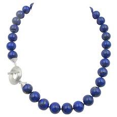 Vintage Natural Lapis Lazuli Beaded Necklace