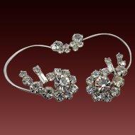 Vintage DeLizza and Elster Juliana Ear Wrap Crystal Earrings
