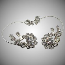 Vintage DeLizza and Elster Juliana Ear Wrap Crystal Earrings