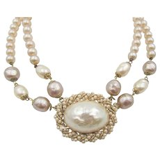 Vintage Original by Robert Glass Pearl Double Strand Necklace