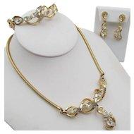 Vintage Alfred Philippe Trifari Necklace, Bracelet, Earrings 1951 Parure