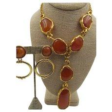 Vintage KJL Kenneth Jay Lane Fabulous Necklace and Earring Set