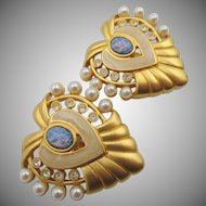 Vintage Elizabeth Taylor Hearts of Hollywood Earrings