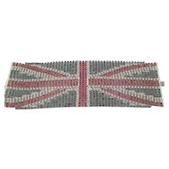 Vintage Butler and Wilson Union Jack Wide Rhinestone Bracelet