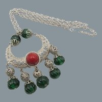 Kenneth Jay Lane K.J.L. Egyptian Revival Style Filigree Necklace