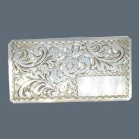 Antique Victorian 800 Silver Ornate Monogram Brooch