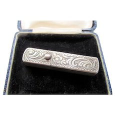 Antique Marked 900 Silver Scrolled Lipstick Holder