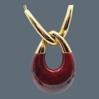 Vintage Crown Trifari Modernist Lucite Necklace