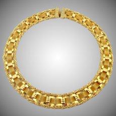 Hobe Woven Mesh Egyptian Revival Style Necklace