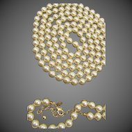 Joan Rivers 76 inches 10mm Glass Faux Pearl Necklace