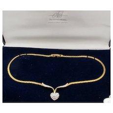 Vintage Attwood & Sawyer Heart Necklace in Original Box