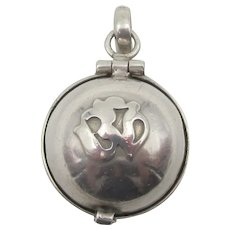 Vintage Sterling Buddhist Om Orb Charm