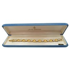 Trifari Birthstone Series April Diamond Rhinestone Ribbon Bracelet