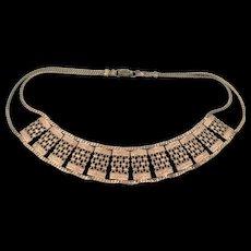 Vintage Copper Filigree Necklace