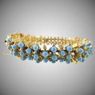 Vintage Signed ART Faux Turquoise Bracelet