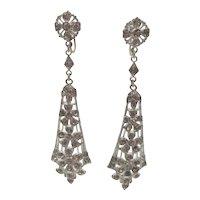 Art Deco Paste Drop Screw-type Earrings