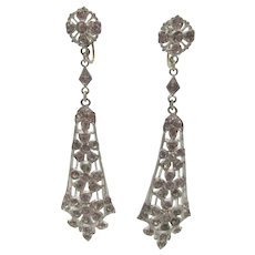Art Deco Paste Drop Screw-type Earrings