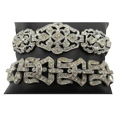 Art Deco Paste Rhinestone Bracelets