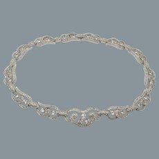 Gorgeous Art Deco Diamante Crystal Choker Necklace