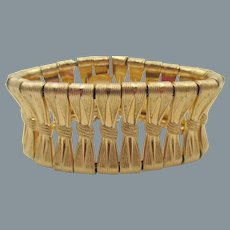 Signed Grosse of Germany 1958 Gold Tone Bow Bracelet