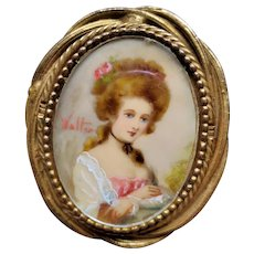 Original by Robert Handpainted Portrait Brooch/Pendant